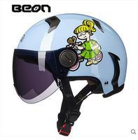 Ретро электрический мотоцикл/мотоцикл половина helme для женщин и мужчин, beon b102 старинные kick scooter мотоциклист dirt bike шлем