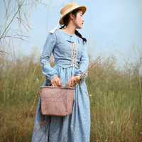 LYNETTE'S CHINOISERIE Spring Autumn Original Design Women French Vintage Rustic Twinset Vest Dresses