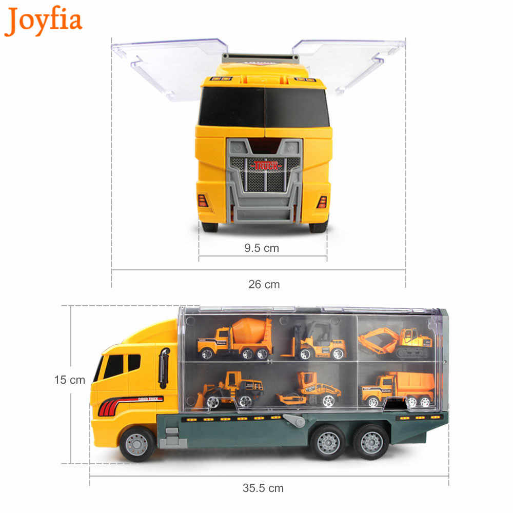 4 Gaya 7 Buah Mini Mobil & Truk Truk Alloy Diecast Mobil Teknik Excavator Mainan Kendaraan Mobil Truk Model Hadiah untuk Anak-anak Anak Laki-laki]