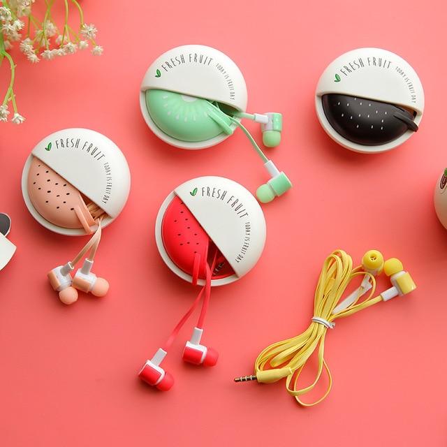 Милые Фрукты Конфеты Красочные Наушники 3.5 мм наушники-вкладыши ith Микрофон для Телефона Lenovo Xiaomi Девушки Малыш Ребенок Студент для MP3 подарки
