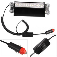 12V 8W LED Fire Car Auto Vehicle Deck Truck Dash Strobe Flash Warning Light Amber White