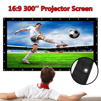 Foldable 300 inch Projection Projector Screen Canvas Matt White Portable 3D HD Home Theater Wall mounted Outdoor Travel