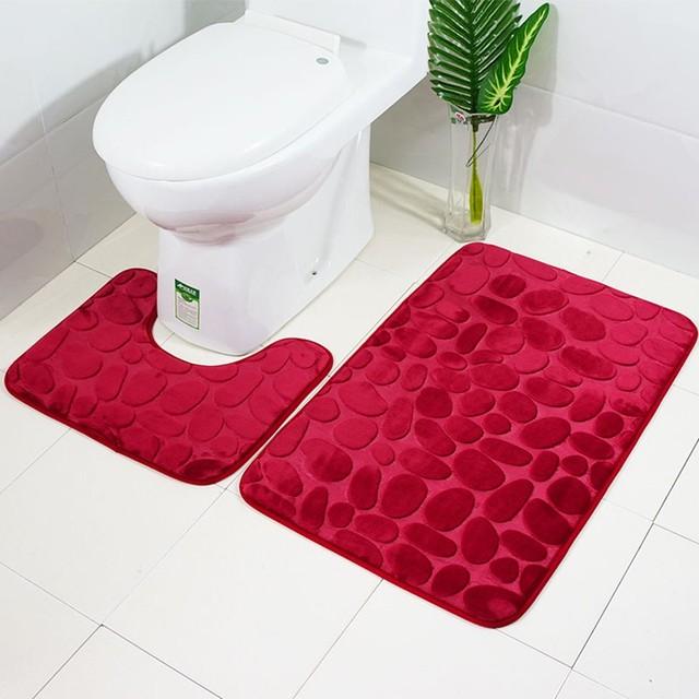 Wc coprire per il bagno Decorazioni 2 pz Antiscivolo Presa di Aspirazione Da Bagno Zerbino Cucina Bagno Tappeto Porta Zerbino s arredamento Per La Casa