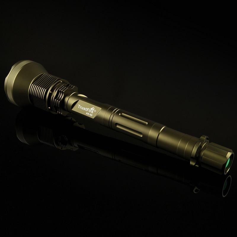 TrustFire ak 90 12 * XML T6 Светодиодные фонарики 13000 люмен 5 режим (h/M/L/строб/ SOS) охота тактический фонарик - 3