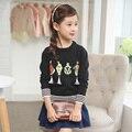 Новый Год Девочка Одежды Дети Осень Трикотажные Пуловеры Кисточка Бахрома Свитера Cartton Верхняя Одежда Милые Топы Для 2 4 6 7 8 10 Года