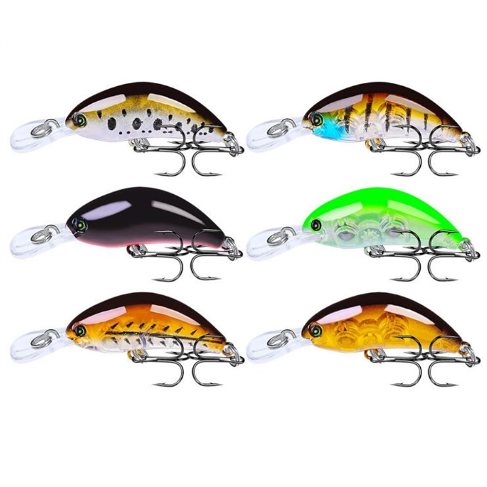 1pcs High Quality Crankbait Fishing Lure 55mm 4g Topwater Artificial Japan Hard Bait Minnow Swimbait Trout Bass Carp Fishing image