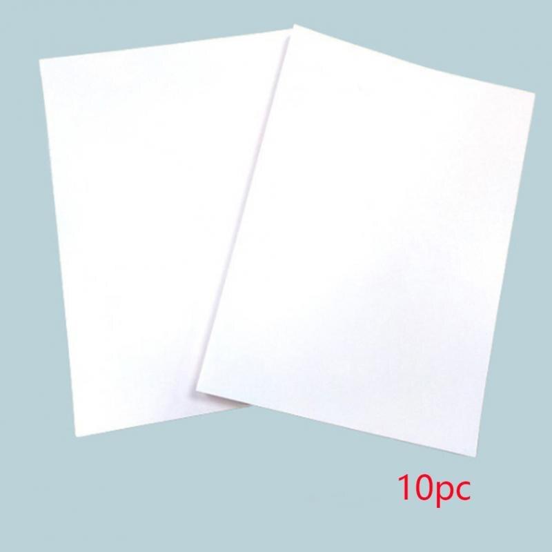 10 шт. A4 бумага для термопереноса для струйных принтеров светильник цветная бумага ткань футболка переносит фото качество принты#4 - Цвет: White