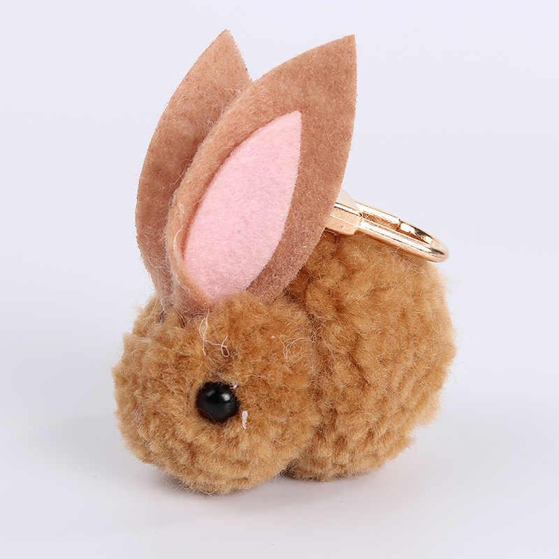 Kawaii Plush chaveiro Bonito Mini Simulação Coelho Boneca Coelho brinquedos De Pelúcia Brinquedos de pelúcia Bicho de pelúcia chaveiros chaveiro para as crianças