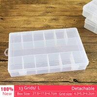 13 Grids L 27cm Plastic Detachable Storage Boxes Bins For Tools Diamond Jewelry Fishing Gear Screw