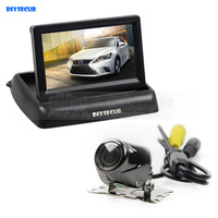 Wired 4 3 Inch Car Reversing Camera Kit Back Up Car Monitor LCD Display HD Security