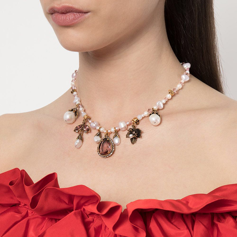 Amorita Boutique Natural Pearl Wing Light Luxury Necklace
