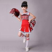 Costume de pom pom girl sans manches, costume de pom pom girl, costume de danse moderne, à manches longues, pour garçons et filles