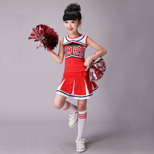 Ärmellose jungen mädchen dance kostüm cheerleader kostüm modern dance kostüme für kinder langarm cheerleader kostüm jungen girs