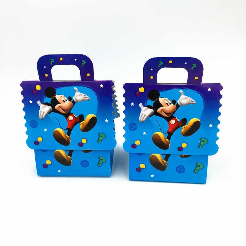 6ピースミッキーマウスキャンディボックスキッズパーティー好意ランドセルミッキーキャンディバッグ誕生日パーティー用品