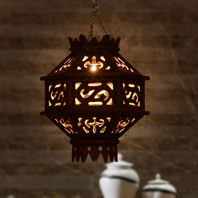 South East Asian solid wood hollowed Pendant Lights European living room hall restaurant luminaire designer Pendant lampLU810204 south korea's role in building the east asian community
