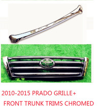 2010-2015 PRADO FJ150 2700 4000 CHROMED&DARK GREY FRONT GRILLE +FRONT TRUNCK TRIMS ACCESSORIES CHROMED