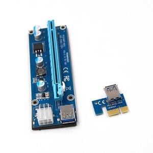 Image 3 - PCI E 1x zu 16x Bergbau Maschine Verbessert Extender Riser Card Adapter mit 60cm USB 3.0 & SATA 4pin IDE molex power Kabel