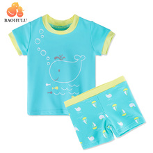 3e539a58336 BAOHULU Baby Boys Swimsuit Girls Swim Clothes Bathing Suits Beachwear  Children Set with Cartoon Fish Pattern · 3 Colors Available