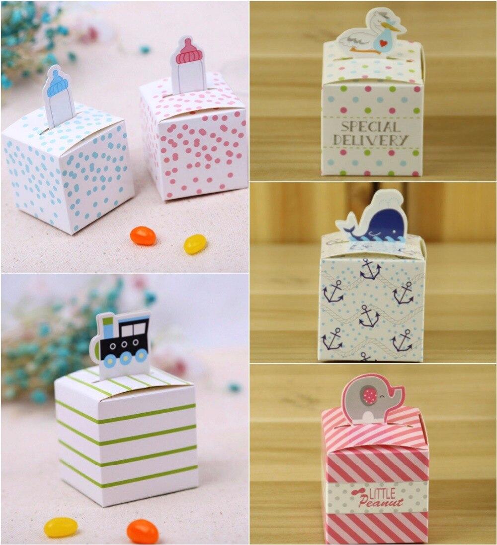 Boy Girl Party Supplies Baby Shower Favor Candy Box Milk Bottle