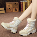 New Fashion Winter Outdoor Snow Boots Slip on Waterproof Ski Boots Flat Shoes Wedges  Women Warm Cotton Shoes