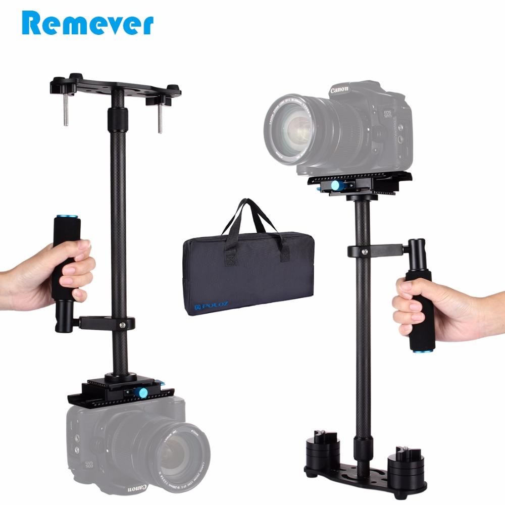 PULUZ Carbon Fiber Handheld Stabilizer For Nikon Canon Sony DSLR Steadicam Shock-absorbing Arm for Video Camera Photography viltrox yb 3m 3m professional extendable aluminum alloy strong camera video crane jib arm stabilizer for canon nikon sony dslr