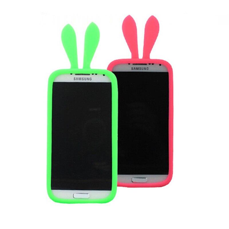 cute rabbit ears silicone phone border cover case for nokia lumia