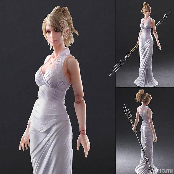 PLAY ARTS 27cm Final Fantasy XV Lunafrena Nox Fleuret BJD Action Figure Model Toys play arts 27cm final fantasy xv lunafrena nox fleuret bjd action figure model toys