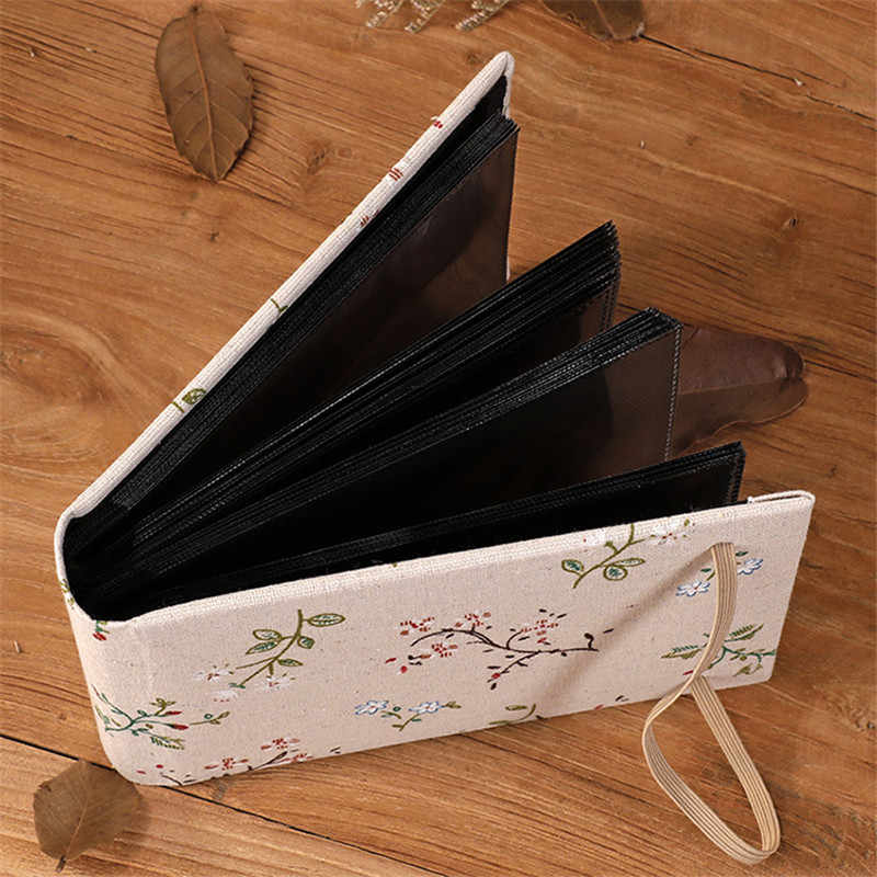 Creative 200 Pockets Cloth Floral Wedding Photo Album Vintage Carved Handmade DIY Insert Flush Mount Album Scrapbook Photo Album