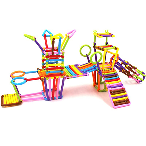 135Pcs Children Assembled Educational Toys Plastic Building Blocks Smart Sticks