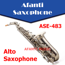 Afanti Music Eb tone / Brass body / Gold finish Alto Saxophone (ASE-483)