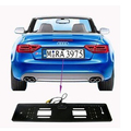 1 ШТ. 54.6*14 см Евро Рамка Номерного знака С Камерой Парковки Номерного Знака Автомобиля Brasket + Камера Универсальная рамка Для BENZ BMW