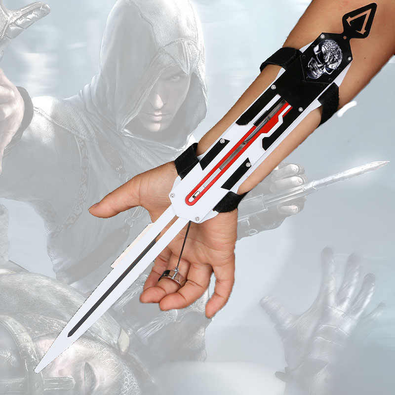 Hidden Blade Sleeve sword Action Figure assassins Hidden Blade Edward Weapons Sleeves swords Can the ejection kid toy gift
