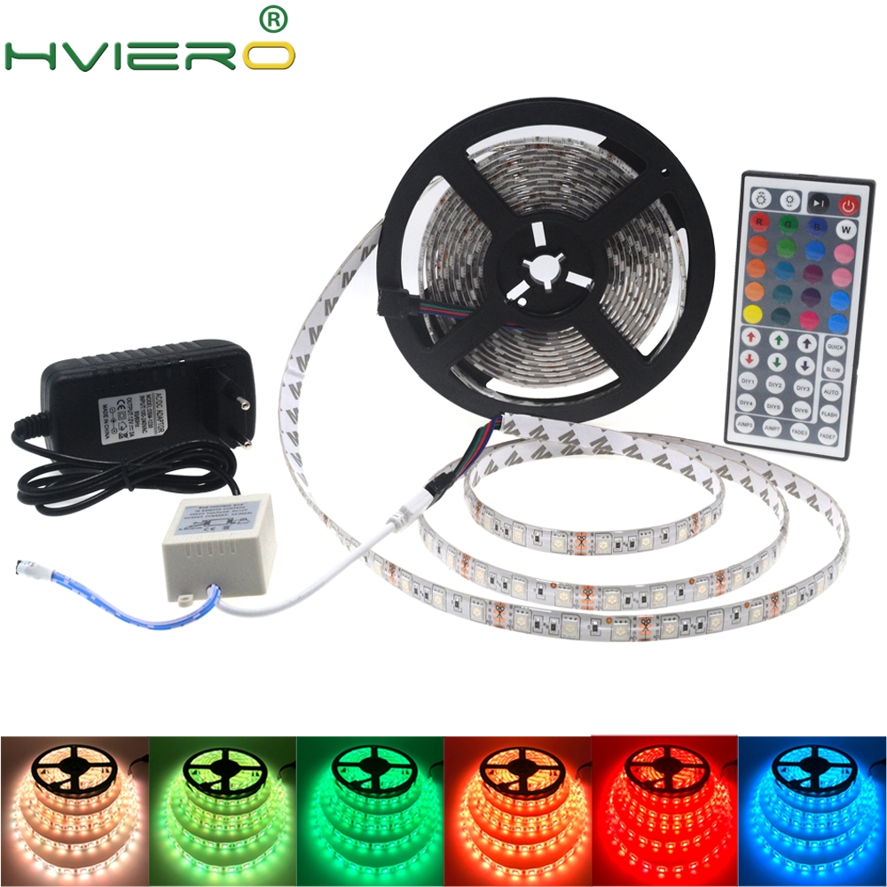 5m/lot 5050 SMD LED Strip DC 12V IP20 IP65 Waterproof 60LEDs/m 300Led Flexible RGB Atmosphere Light for Home Decoration full set 36w 12v 1200lm 150 smd 5050 led rgb waterproof decoration light strip kit 12v 5m