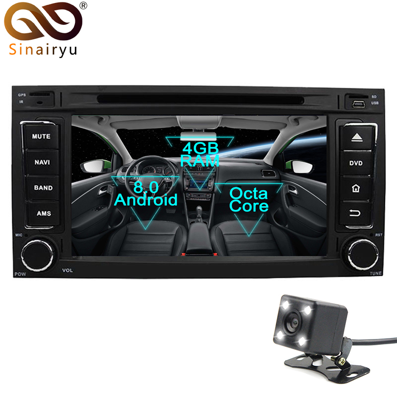 Android 8.0 Octa Core Car DVD Player for Volkswagen Touareg VW Multivan GPS Navigation Multimedia Radio Stereo Head Unit