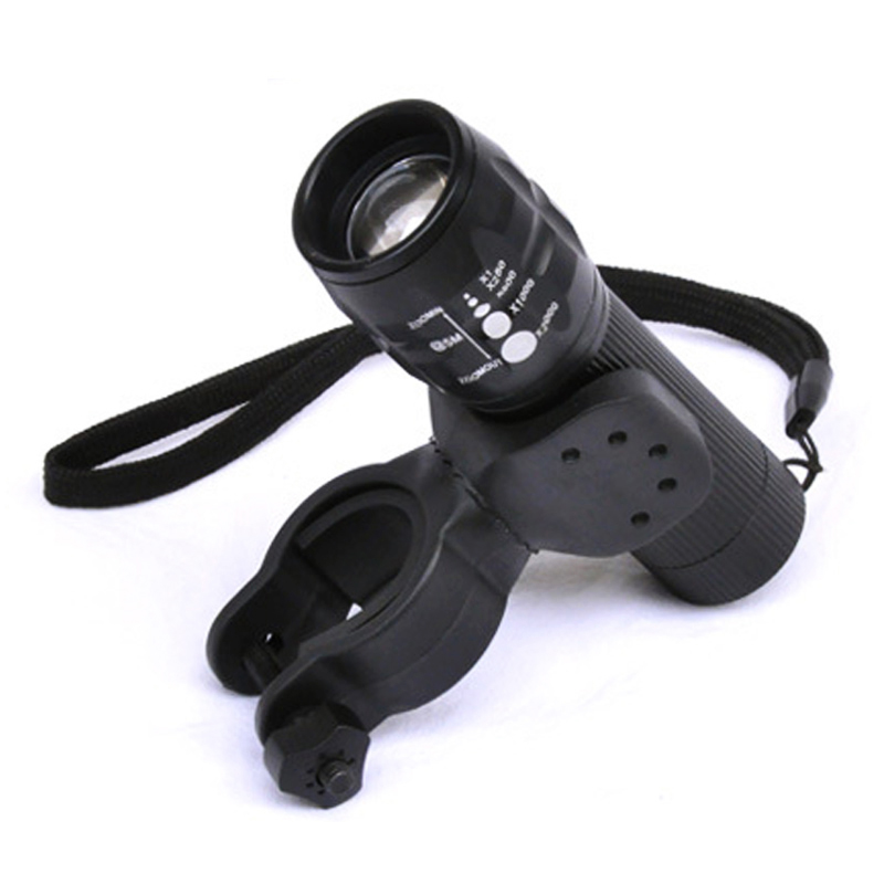 Dropshipping Bicycle Lights 2300LM Led Flashlight Torch 3 Mode Q5 Bike Lamp Front Torch With Bike Holder Stock In RU,US