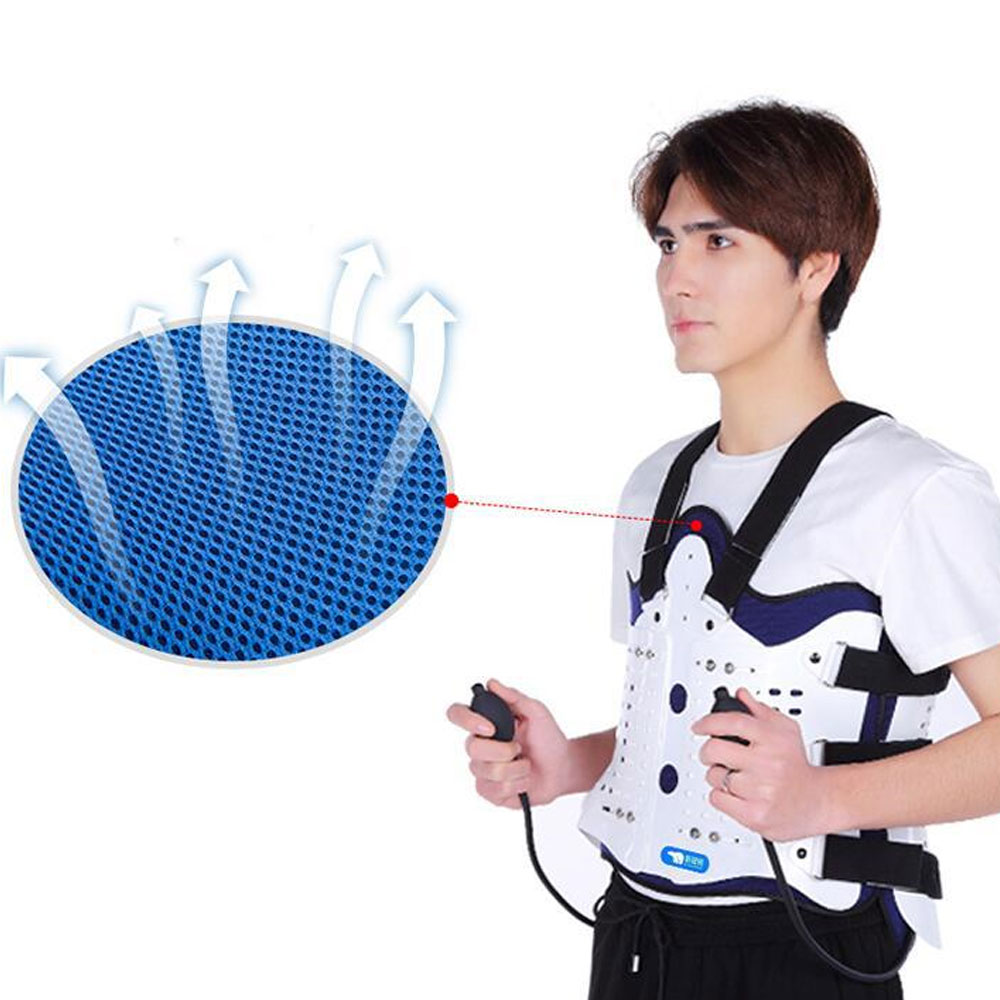 Image 5 - 1Set Airbag Back Support Comfortable Back and Shoulder Brace for Men and Women   Medical Device Fracture Postoperative-in Braces & Supports from Beauty & Health