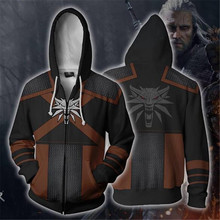 Game The Witcher 3: Wild Hunt Geralt Zip Hoodie Cosplay Hoodie Men and Women Sweater Anime Costume 2019 Brand New