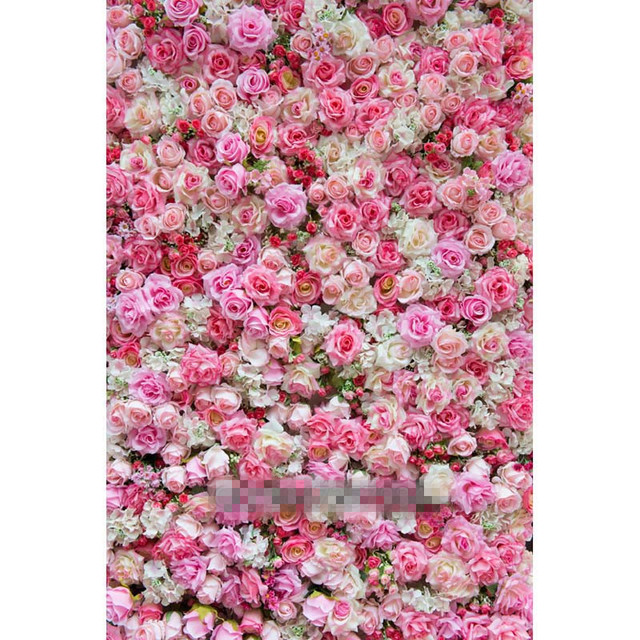 6x10ft bonita fundo cenrios de fotografia de casamento pano de fundo flores rosa impresso recm