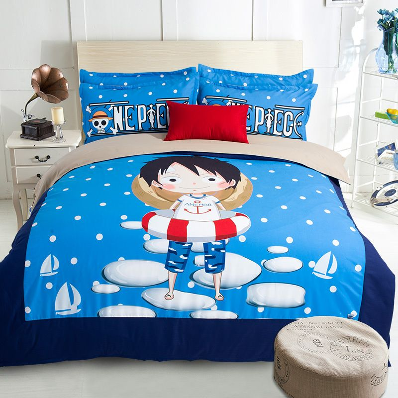 japan one piece anime blue bedding sets bedlinens for kidu0027s boys twin full queen king sizes