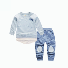 Children Boys Girls Clothing Sets Kids Cotton Clothes Kid T-shirt Pant 2Pcs/Sets Spring Autumn Baby Sweatshirt Casual Tracksuits