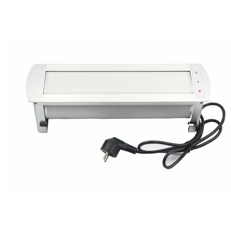 Rotation de retournement électrique automatique prise 180 degrés 3 prises de courant EU + Ports de chargeur USB