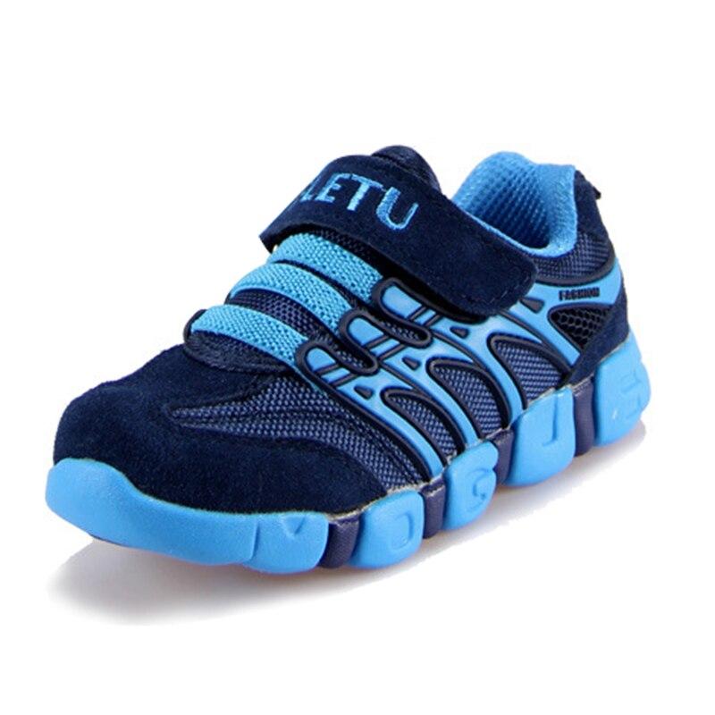 ægte læder små sko cowhide mandlige barn teenage sport løbesko