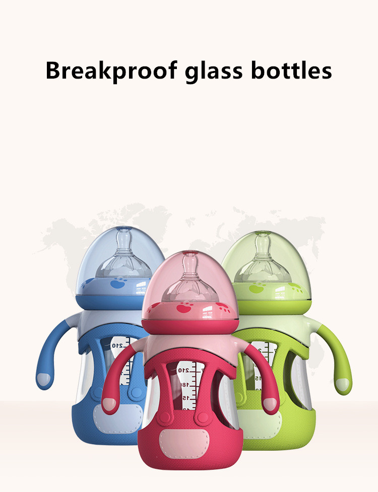 YOOAP 240ML Glass Baby Feeding Bottle Silicone Fully Automatic and Care Baby Newborn Baby Bottles baby stuff mamadeira in Bottles from Mother Kids