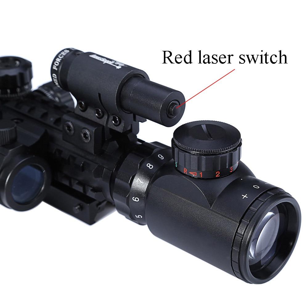 3-9X40 Mira telescópica reflectante de punto rojo 3 en 1 con cola de - Caza - foto 4