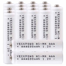 Lowest price 15 piece AAA battery 1.2v batteries rechargeable 600mAh nimh battery for power tools akkumulator стоимость