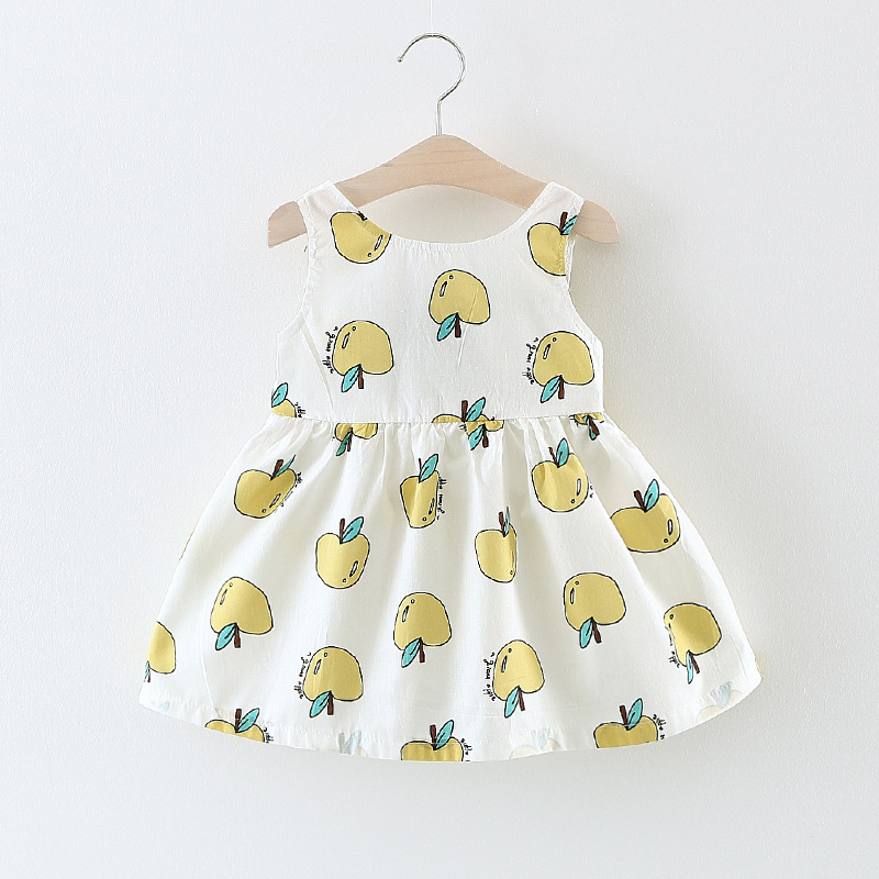 the new childrens wear in summer Han edition apple rural girls dress Baby round collar sundress Factory direct sale