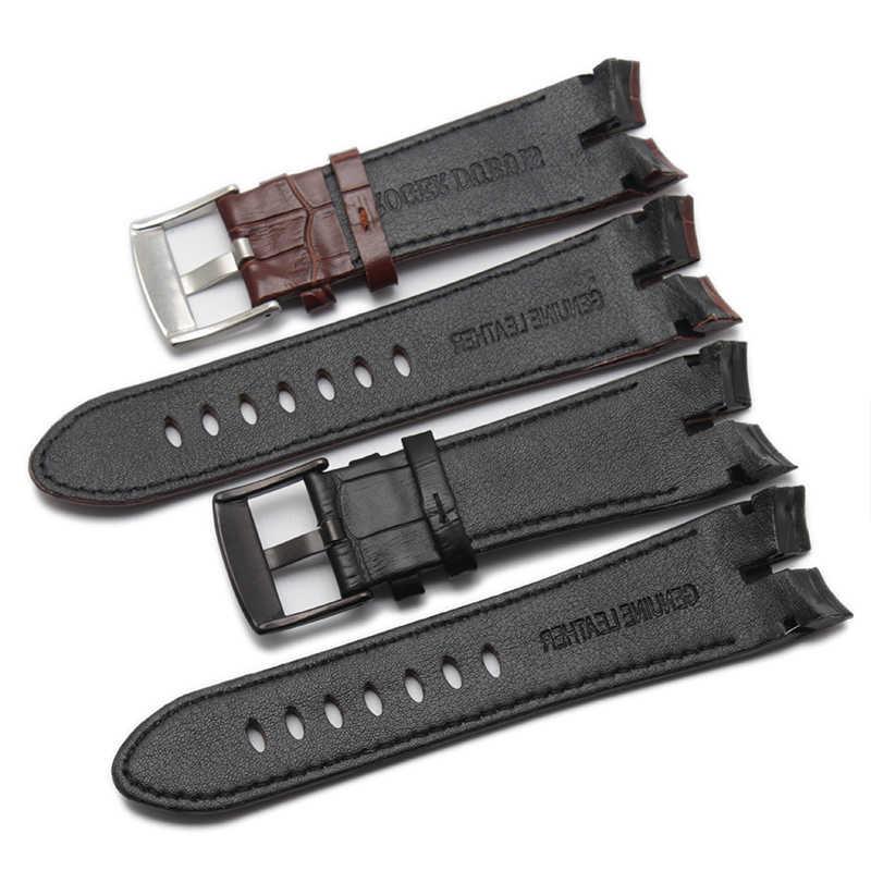 חדש כניסות 26*22mm שחור וחום עור אמיתי רצועת שעון רצועת תנין דפוס עבור רוג 'ר Dubuis אקסקליבר סדרה
