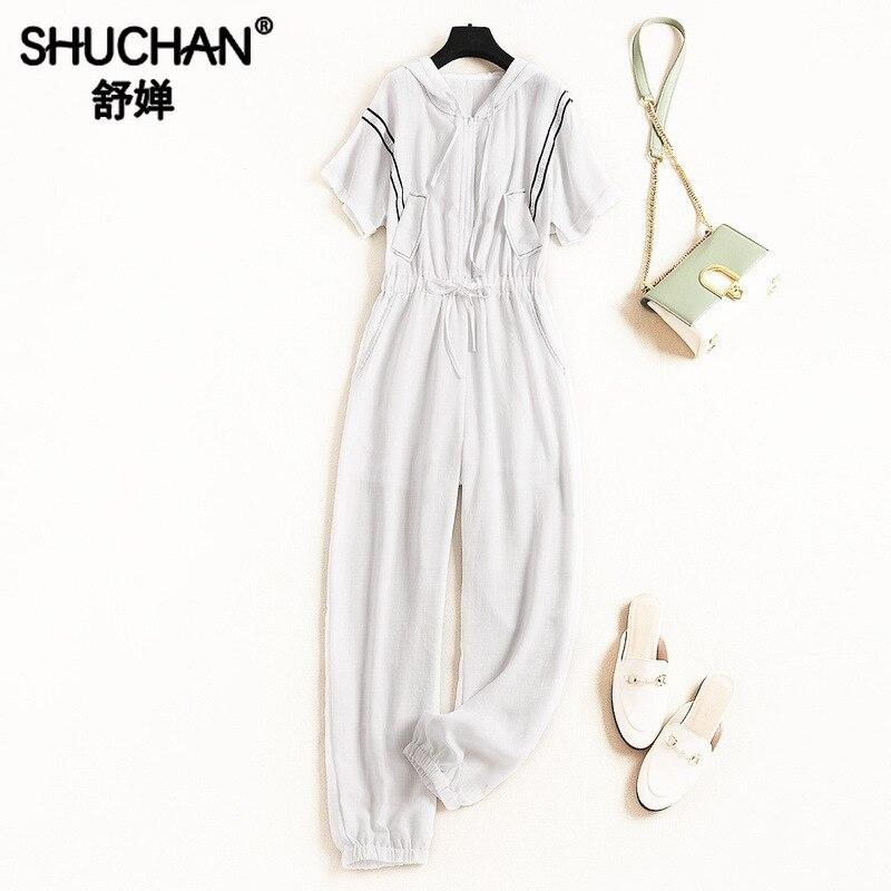 Shuchan Femmes Combinaison décontracté Solide Salopettes pour Femme Barboteuse Été 2019 Mode coréenne Femmes Designer Vêtements 11698