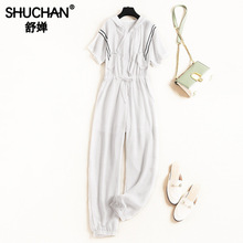 Shuchan Women Jumpsuit Casual Solid Overalls for Romper Summer 2019 Korean Fashion Designer Clothing 11698