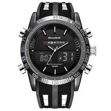Readeel 2019 ยี่ห้อผู้ชายนาฬิกาหรูหรา LED กีฬานาฬิกาข้อมือนาฬิกาข้อมือผู้ชายนาฬิกาข้อมือควอตซ์ Relogio Masculino buso militar